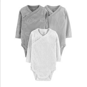 Baby 3 pack Side-Snap Bodysuits